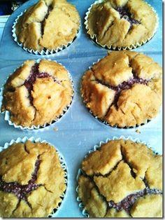 Coconut flour chia jam muffins...absolutely genius recipe