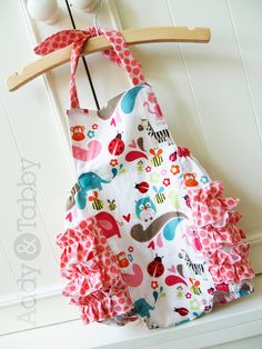 Ruffle butt romper / sunsuit with halter tie infant and toddler size (find the vintage version) Summer 2013