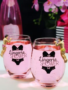 the perfect lingerie shower party favor add these fun drink markers to keep it fun