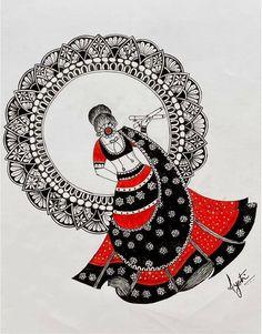 Mandala Art Lesson, Mandala Artwork, Easy Mandala Drawing, Doodle Art Designs, Doodle Art Drawing, Ganesha Art, Madhubani Art, Drawings Of Friends, Indian Art Paintings
