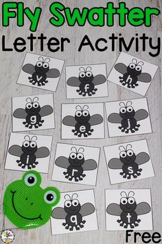 Fly Swatter Alphabet Game: Letter Recognition Activity For Pre-Readers , Are you looking for a fun way for your kinesthetic learners to practice their letter recognition? This Fly Swatter Alphabet Game will get your kids mo. Preschool Literacy, Preschool Letters, Literacy Activities, Alphabet Games For Kindergarten, Teaching Resources, Literacy Centers, Letter Recognition Games, Letter Games, Letter Recognition Kindergarten