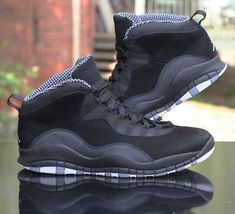 various colors 2fe0a e25a9 Air Jordan 10 X Retro Stealth Black White Grey 310805-003 Men s Size 13