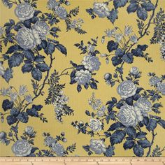 Mecox Bay Day Lily Yellow and Blue Print . by InteriorLuxuries, $140.00