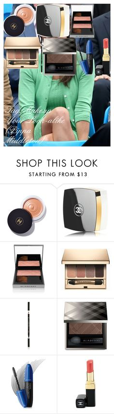 """""""Tag: Makeup Your Look-alike (Pippa Middleton)"""" by oroartye-1 on Polyvore featuring beauty, Pippa, Chanel, Burberry, Clarins, Armani Beauty and Revlon"""