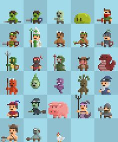 working on Enemy and Player Sprites. Which one is your favorite?…