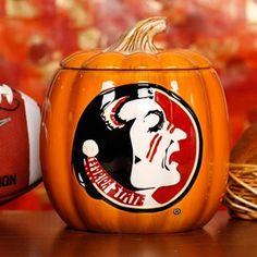 Florida State Seminoles (FSU) Ceramic Pumpkin Jar