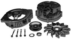 ProformParts.com - CHROME ALTERNATOR CASE KITS. FORD 1965-86 WITH 61 AMP. Ford Mustang Parts, Chrome, Kit, Starters, Accessories, Jewelry Accessories