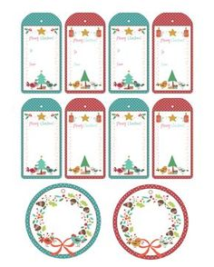 une jolie collection de tags offerts par The Cottage Market. Christmas Gift Tags Printable, Christmas Labels, Holiday Gift Tags, Free Christmas Printables, Printable Cards, Christmas Greeting Cards, Free Printable, How To Make A Gift Bag, Halloween And More