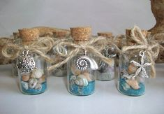 Beach In Bottle Wedding Favor – Beach Theme Shell Starfish Charms, Wedding Bridal Shower Party Favor, Sold in Sets of 6 or Specific Quantity Plage en bouteille Faveur de mariage Thème Beach Shell Starfish Beach Wedding Reception, Beach Wedding Favors, Unique Wedding Favors, Wedding Gifts, Wedding Ideas, Wedding Decorations, Wedding Parties, Wedding Pictures, Wedding Cake