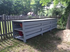 Kayak shed, all reclaimed wood too!