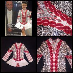 Spectacular White Gavin Doherty Irish Dance Dress Solo Costume For Sale