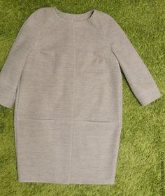 Купить Пальто. Пальто кокон. - серый, однотонный, пальто, пальто женское, пальто-кокон