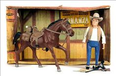 Palitoy Bonanza Hoss and His Horse Playset, 1966. Description from…