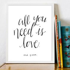 Print Your Own Wall Art! Size 8X10 (other sizes may be available upon request)    This cheery design features the hand lettered phrase All You