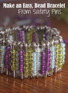I had no idea what to expect when I decided to try to make a bead bracelet from safety pins, but the finished product was better than I could have imagined!