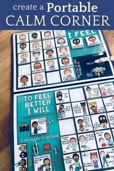 Teachers and school counselors can use this lap board, 20 (or so) different coping skills and mindfu Classroom Behavior Management, Behaviour Management, Behavior Goals, Coping Skills, Social Skills, Calm Down Corner, Conscious Discipline, Self Regulation, Emotional Regulation