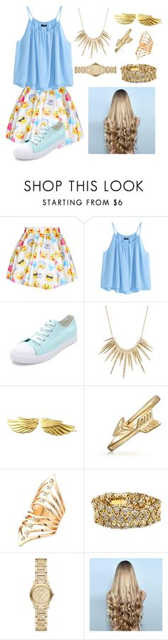 """""""Emoji Art"""" by cls-lax ❤ liked on Polyvore featuring H&M, Alexis Bittar, Bling Jewelry, Charlotte Russe, Burberry, WigYouUp, women's clothing, women, female and woman"""