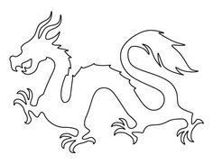 Use the printable outline for crafts, creating stencils,. Use the printable outline for crafts, creating stencils,… – Chinese Dr - Chinese Dragon Drawing, Chinese Dragon Tattoos, Japanese Dragon, Dragon Drawings, Chinese Drawings, Outline Drawings, Chalk Drawings, Dragon Chine, Free Stencils