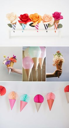 Ice cream cone decor | Brooklyn Bride - Modern Wedding Blog