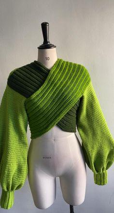 Diy Clothing, Sewing Clothes, Crochet Clothes, Crochet Cardigan, Knit Crochet, Crochet Sweaters, Crochet Tops, Crotchet, Knit Fashion