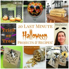 20 Last Minute Halloween Projects & Recipes