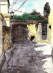 Rafael Pujals art: Portal d'entrada de la masia de Can Reniu - Tiana