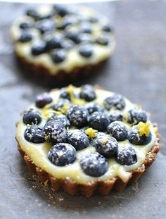 Blueberry lemon tart.  Something special to make on hump day!