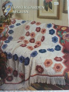 Flower Garden Afghan  Annie's Crochet & by CarolsCreations77, $1.50