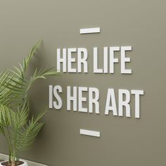 Boss lady Sign, Girl boss, Her Life is her Art, Office wall art, Office sign, Lady boss sign, Hustle sign, Woman Boss gift - SKU:HEAR