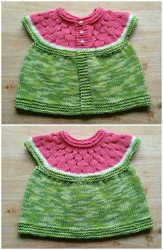 Watermelon Baby Cardigan