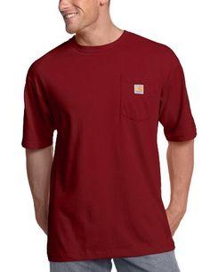 Carhartt Men s Big   Tall Workwear Pocket Short Sleeve T-Shirt Original Fit  Tall Solid T-shirt featuring crew neckline, short sleeves, and single-chest  ... 4a716f6ca44