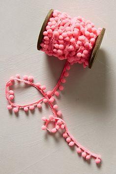 pom pom ribbon #anthrofave