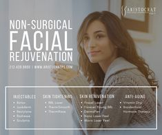 Non-Surgical Facial Rejuvenation Options – Aristocrat Plastic Surgery Facial Rejuvenation, Skin Tightening, Plastic Surgery, Your Skin, Anti Aging, Laser Facial, Therapy, Better Health