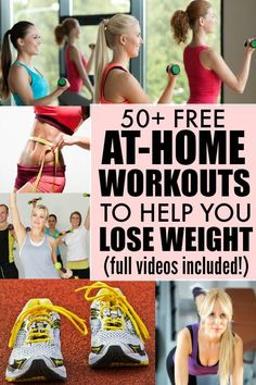 Whether you're looking for cardio workouts, ab workouts, yoga workouts, butt and thigh workouts, or Jillian Michaels workouts, this collection of over 50 at-home workouts is just what you need to get yourself back in shape and lose weight! | via @ChanceOfWine