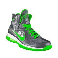 NIKEiD. Custom LeBron 9 Limited iD Basketball Shoe , Lime Green !