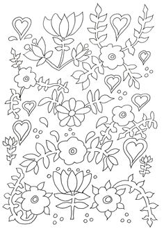 Free Coloring Page Adult Flowers Beautiful Beautifully Drawn For A Complex Which Patience And Attention To Detail Are