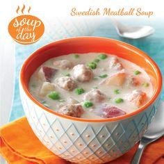 Swedish Meatball Soup Recipe from Taste of Home -- shared by Deborah Taylor, Inkom, Idaho