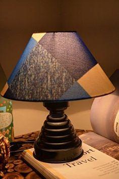 GEOMETRICAL BLUES TABLE LAMP