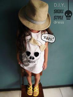 Halloween.... D.I.Y. Skull style dress.