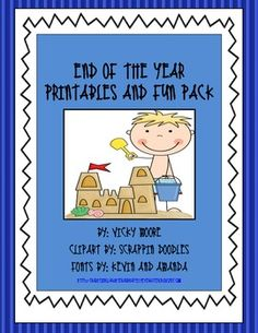 This fun 19 page end of the year pack is full of goodies to keep your students engaged those last few days.  I have included daily activities for t...