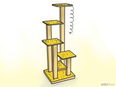 Build a Cat Tree With These Free Plans: Free Cat Tree Plan at wikiHow #catsdiytree