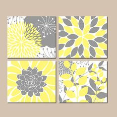 Bathroom Artwork For The Walls. Floral Wall Art Yellow Gray Bedroom Pictures Canvas Or Prints Flower Bathroom Artwork