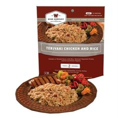 Teriyaki Chicken w/Rice 2 Serving Pouch-Prepared in minutes by just adding water, they become the perfect outdoor meal for camping, backpacking, hunting, fishing, boating and RV traveling. They are also good for 72 hour emergency kits and for everyday use.