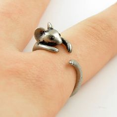 #KejaJewelry on Artfire   #ring                     #Silver #Mouse #Wrap #Ring                          Silver Mouse Wrap Ring                              http://www.seapai.com/product.aspx?PID=763519