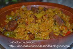 La Cocina de Sandra: ARROZ CON CHORIZO Y GARBANZOS