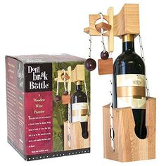 The next time you're invited to a friend's home for dinner, use Don't Break the Bottle to present a gift of wine. Your gift will be locked into this beautifully-constructed wooden puzzle gizmo. The fun starts to flow as the recipient solves the puzzle to remove the wine bottle.... more details available at https://perfect-gifts.bestselleroutlets.com/gifts-for-teens/toys-games-gifts-for-teens/product-review-for-dont-break-the-bottle-wood-wine-carrier-puzzle-gift