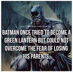 #irony that Batman once tried to become a Green Lantern but could not overcome the fear of losing his parents.  Follow @eNebriated for more great content.... Get your Geek on!  #Batman #greenlantern #joker #dc #dcu #dcuniverse #dccomics #comic #comics #superherofact #comicbooks #bvs #batmanvssuperman #batmanvsupermandawnfojustice  #superman #darkknight #harleyquinn #suicidesquad #geek #geeky #nerdy #nerdygirl #awesome #fun #comiccon #wondercon