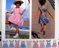 SIMPLICITY SEWING PATTERN - 9573 GIRLS 5,6,7,8 DRESS JUMPER CUTE BACK