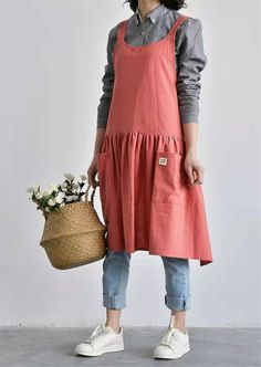 Excited to share the latest addition to my shop: Linen apron cotton apron for women kitchen square cross work dress with tie vintage apron gardening cooking cross back apron Japanese style Japanese Apron, Japanese Style, Japanese Kitchen, Gardening Apron, Linen Apron, Aprons Vintage, Apron Dress, Jumpers For Women, Cute Outfits