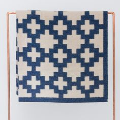 Love this hand-woven graphic print rug, Llama wool rug made by Peruvian artists.
